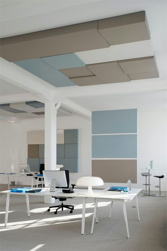 Sound insulation and sound absorbing panel cube by carpet for Insulated office