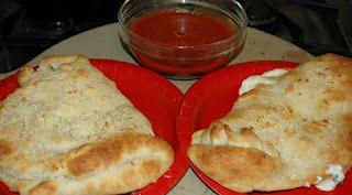calzones with marinara sauce