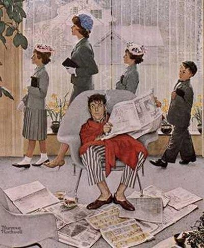 Norman Rockwell. going to church?
