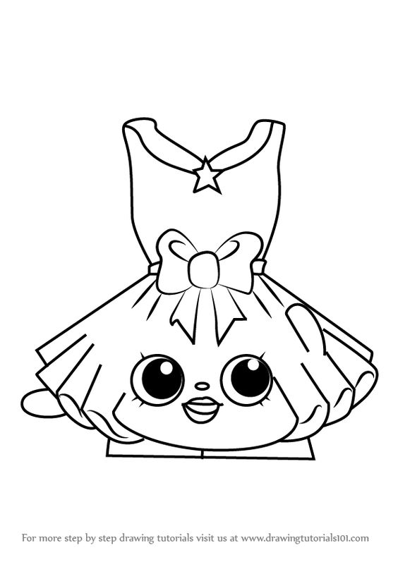How To Draw Tutucute From Shopkins Drawingtutorials101 Com Shopkins Colouring Pages Elephant Coloring Page Cute Coloring Pages