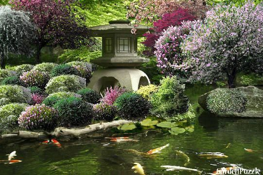 Garden Design Korean Garden House And Koi Pond Spring Also List Plants Used In Project Gardenplanninga Japanese Garden Japanese Garden Design Koi Pond
