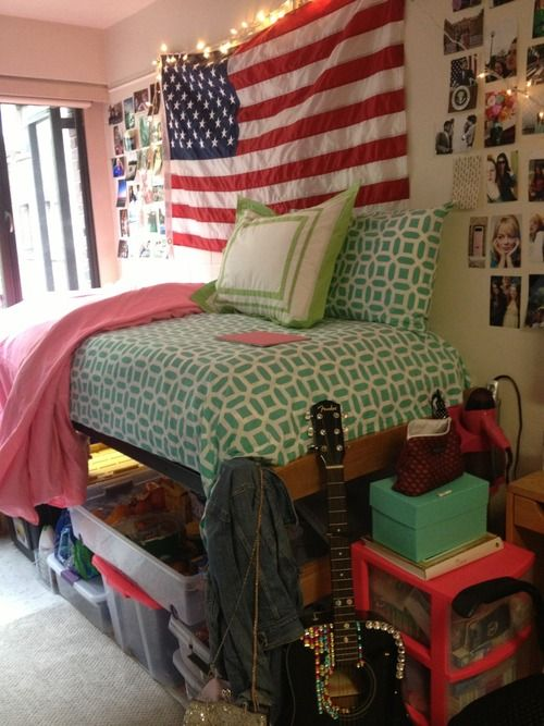 American flag dorm and love the on pinterest for American flag bedroom ideas