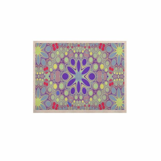 """Alison Coxon """"Hippy Flowers"""" Lavender Kaleidoscope KESS Naturals Canvas (Frame not Included)"""