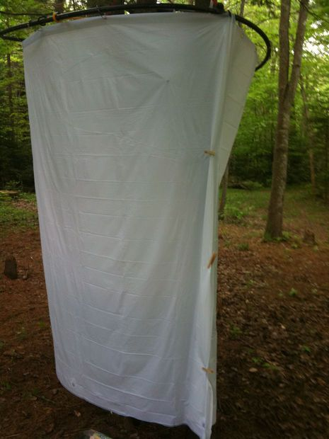 ... have from Coleman. Just tubing and a shower curtain, and clothespins