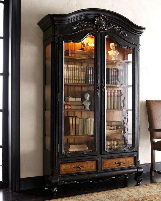 A Trip Down Memory Lane Inspired By Old Fashioned Bookcases Book Cabinet Gl Doors And