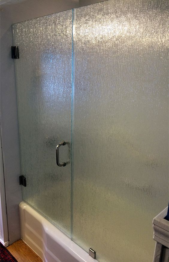 Frameless Shower Door 3 8 Thick Rain Glass With Brushed