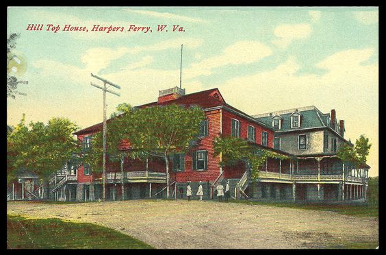 Harpers Ferry Postcard WV Hill Top House Little Girls West Virginia PC