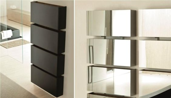modularer Schuhschrank mit Holzoptik oder Spiegelfronten
