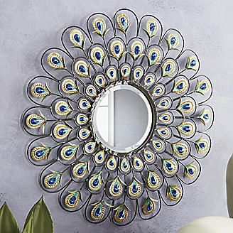 Peacock Mirror from Seventh Avenue ®