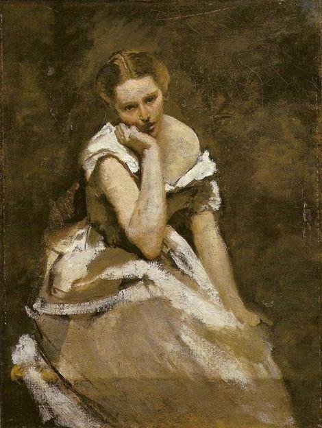 Camille Corot, La Melancolie - 1860 on ArtStack #camille-corot #art