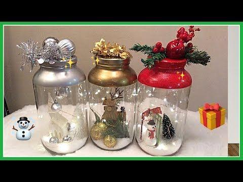 Ideas Con Botellas Decoradas Para Navidad Manualidad Facil Y Rapido Botellas Decoradas Para Navidad Frascos De Vidrio De Navidad Decoracion De Botellas
