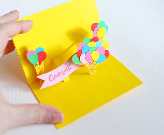 diy pop-up cards ... brilliant .. i should make a bunch of these asap for birthday parties and thank you cards