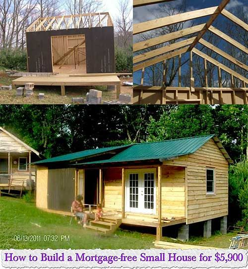 How To Build A Mortgage Free Small House For $5,900 | Little Spaces |  Pinterest | Smallest House, House And Tiny Houses