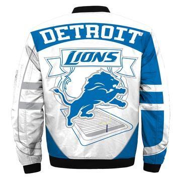 Detroit lions bomber jacket, nfl