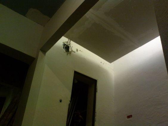 abgehangte decke mit beleuchtung chaos computer club dsseldorf - lampe badezimmer decke