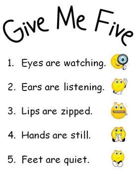 Influential image inside give me five poster printable free