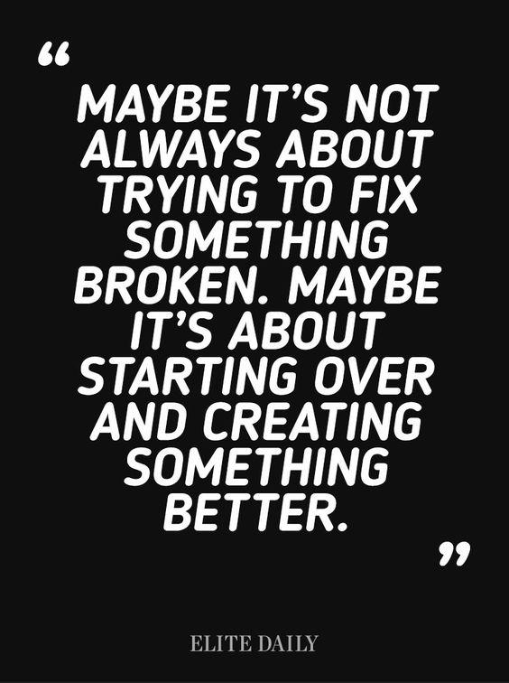 Begin again: