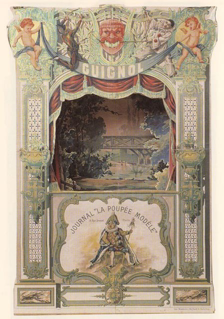 Guignol, France, 1900shttp://venetianred.net/2009/06/15/the-plays-the-thing-a-history-of-toy-theater-in-three-acts/