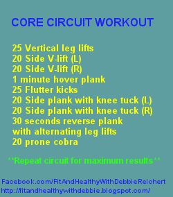 Fit and Healthy with Debbie: Complete core workout