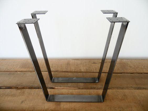 28 Trapez Tisch Beine FLACHSTAHL Höhe 26  32 SET2 von Balasagun