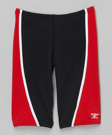 Another great find on #zulily! Red Glide Splice Jammer Swim Shorts - Boys #zulilyfinds