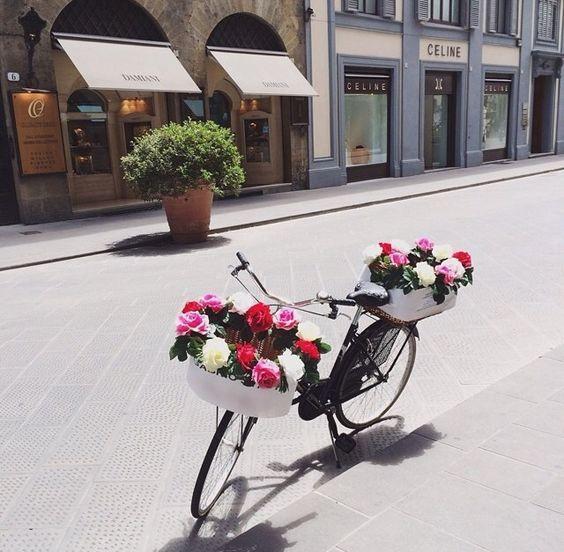 Via de' Tornabuoni Street in Florence, Italy