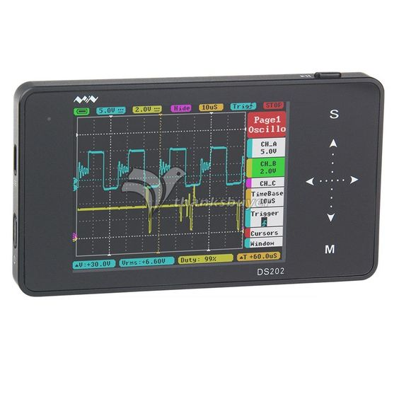 93.91$  Buy now - http://alilal.worldwells.pw/go.php?t=32748237122 - DS202 10Mps Pocket Handheld Oscilloscope Mini Display Full Color TFT LCD 320x240 Digital Oscilloscope 93.91$