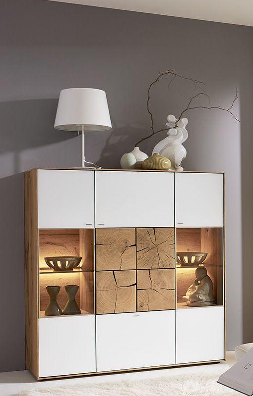 Hartmann Funktions- und Einzelmöbel Kerneiche Sideboard Hirnholz - küche in polen kaufen