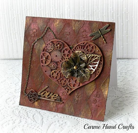 Image result for valentines day card mixed media