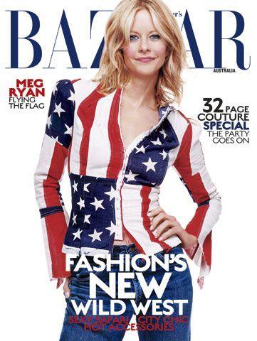 USA • Famous : Meg Ryan - Harpers Bazaar Magazine [Australia] (April 2002)