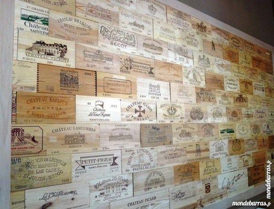Estampes fa ades caisses de vins d coration ch teaux vintage caisses pommes - Decoration caisse de vin ...