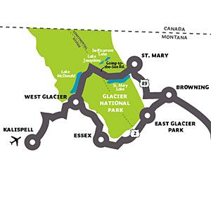 Glacier National Park - I like this map - shows how things are laid out