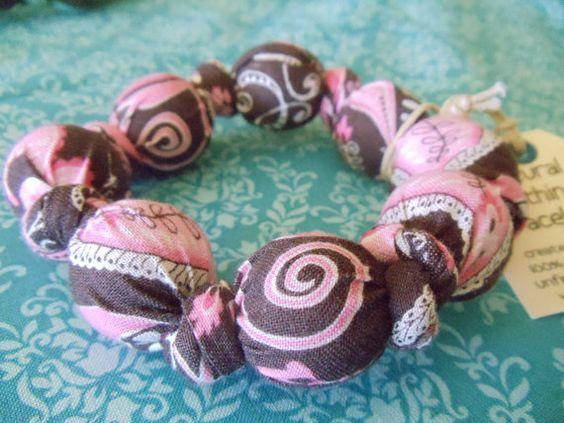 Natural Wood & Cotton Teething Bracelet / Ring by SugarConeShoppe, $12.95