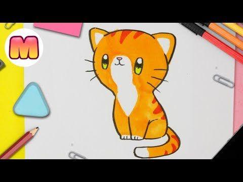 Como Dibujar Un Gato Kawaii Youtube Como Dibujar Un Gato Dibujos Kawaii De Animales Dibujos Kawaii