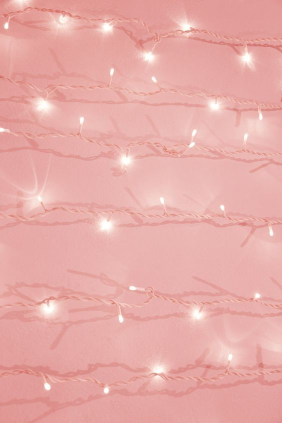 Twinkling Lights X Millennial Pink Pink Aesthetic Pastel Pink Aesthetic Pink Wallpaper