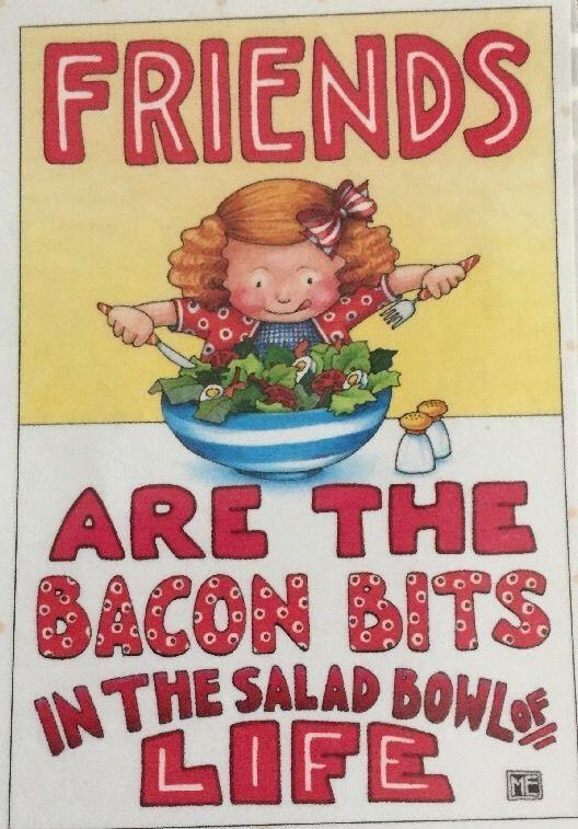 Friends Are The Bacon Bits-Handmade Fridge Magnet