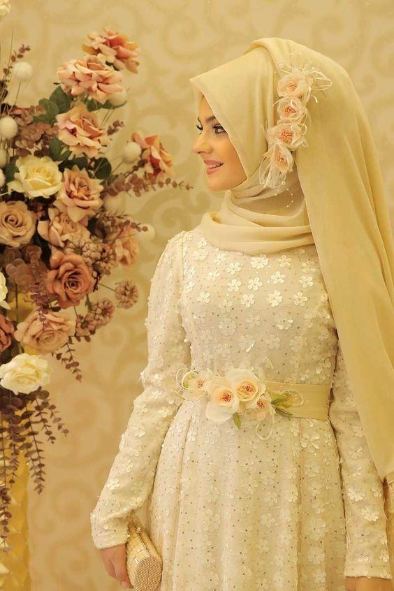 Yepyeni Tesetturlu Gelinlik Nisanlik Modelleri 2020 Musluman Elbisesi Musluman Modasi The Dress