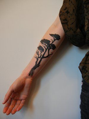 Cypress trees tree tattoos and tree tattoo meaning on for What does a tree tattoo mean