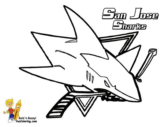 san jose sharks coloring page check out the other nhl coloring pages you can - Coloring Pages Sharks Printable
