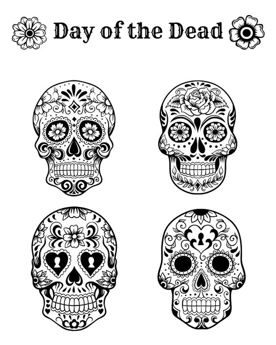 Shocking image within free printable day of the dead coloring pages