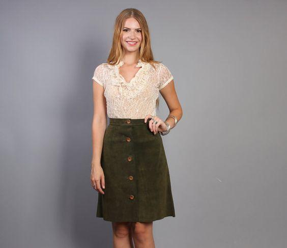 High Waisted Suede Skirt | Jill Dress