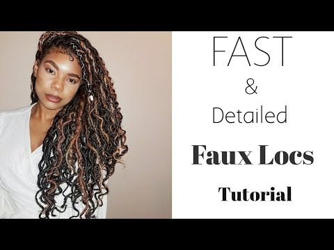 How To Faux Locs Crochet Braids No Cornrows Protective Styling Jumieanne Youtube Faux Locs Faux Locs Styles Faux Locs Goddess