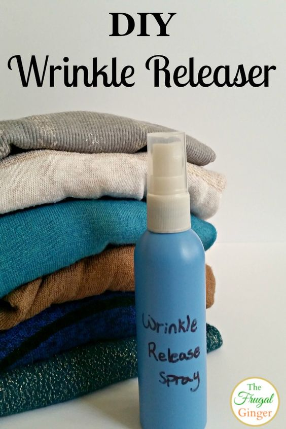 This DIY wrinkle releaser is so easy and cheap to make. Plus, a lot easier than ironing!