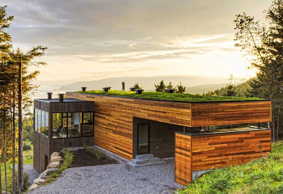 Sustainable architecture: it blends in with the surroundings.