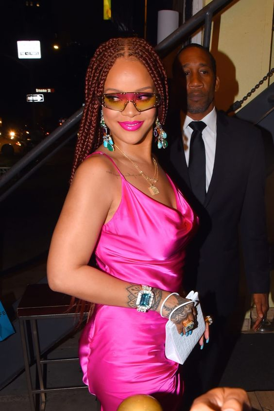 Rihanna Stunned In Box Braids At Fenty Pop-Up Shop - Essence