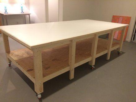 Art Studio Work Table | LumberJocks Projects | Pinterest | Art Studios,  Studio And Woodworking