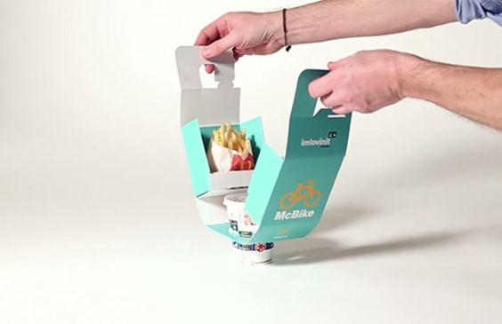 """""""McBike"""" – Das Verpackungskonzept von McDonald's für Radler am Drive In"""