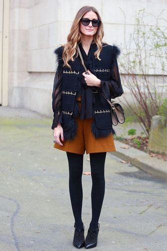 We Can Add Tights to Our Favorite Summer Styles: Olivia Palermo