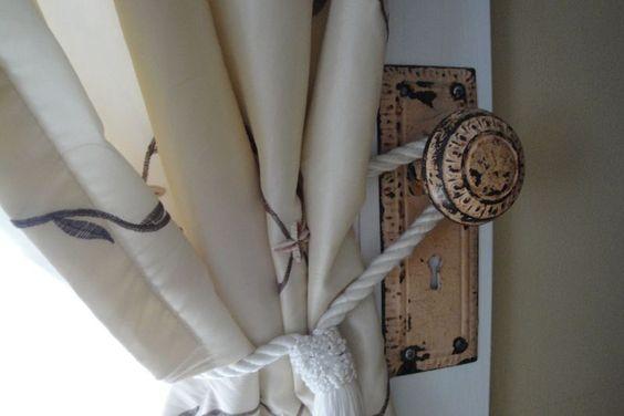 Door Knob curtain tieback