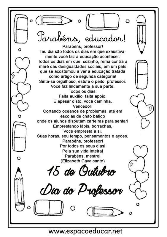 Mensagens para o Dia dos Professores para imprimir!                                            Inscreva seu e-mail gratuitamente para receb...